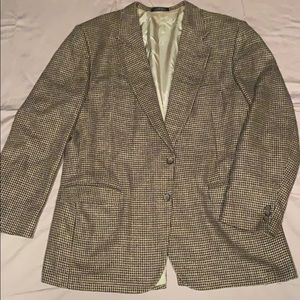 Men's brown houndstooth sports coat